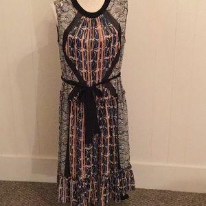 BCBG multi print dress size M
